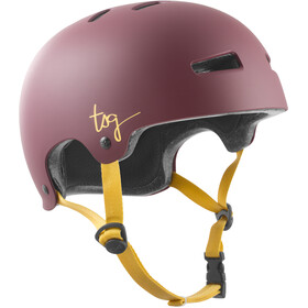 TSG Evolution Solid Color Casco Mujer, satin plum red